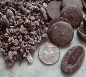 closup of chocolate beans