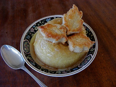 single portion apple pie