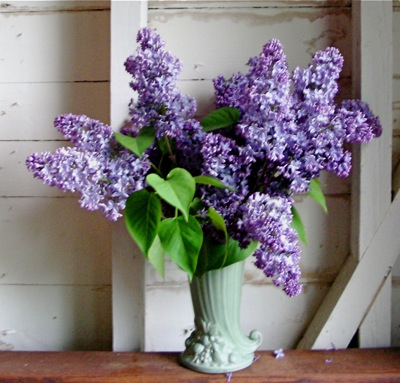 lilacs and tulips bouquet