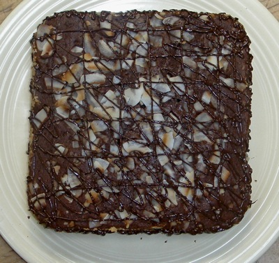 This is the one I just made. Tried it as a play on Almond Joy, one of the all-time candy bars as far as I'm concerned.