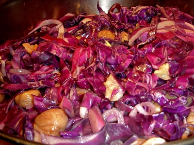 leslie land red cabbage and chestnuts