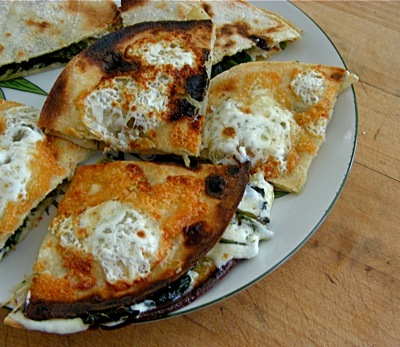 quesadillas with greens ( chenopodium)