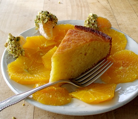 lemon and olive oil cake with oranges
