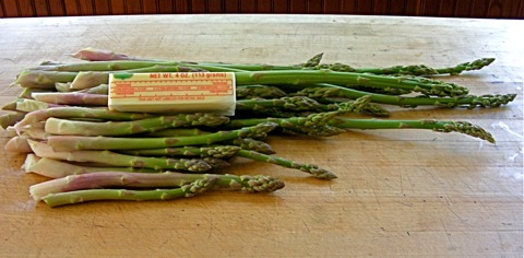 home grown asparagus