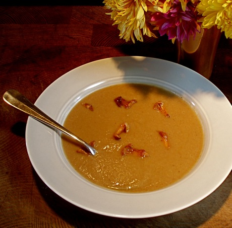 autumn soup (chestnut, wild mushroomand winter squash)