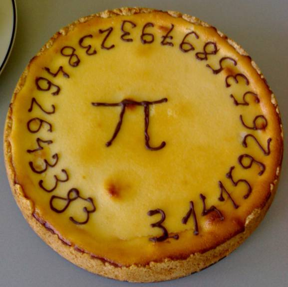 pie with pi decoration