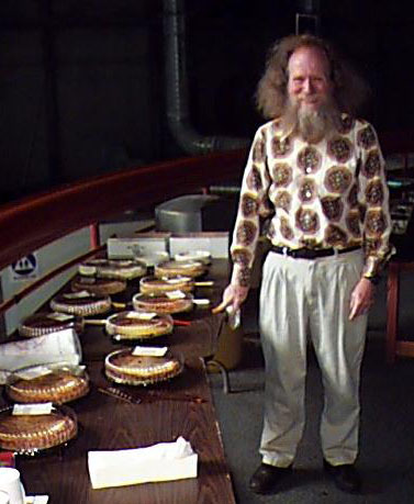 Larry Shaw with pies