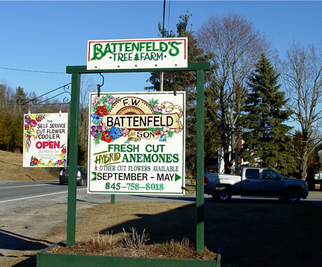 sign at battenfelds anemone nursery