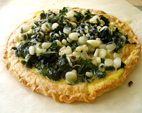 open faced ramp tart