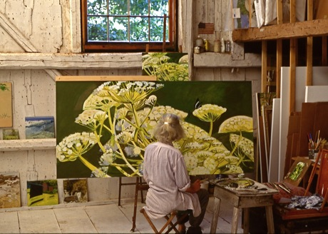 lois dodd in Maine studio
